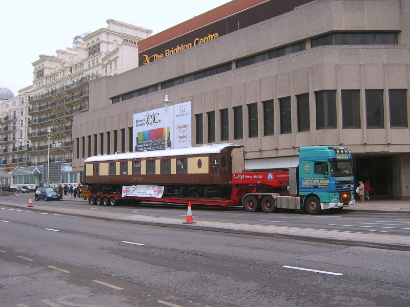 The Brighton Centre last year. The coach in front is from the Bluebell Railway