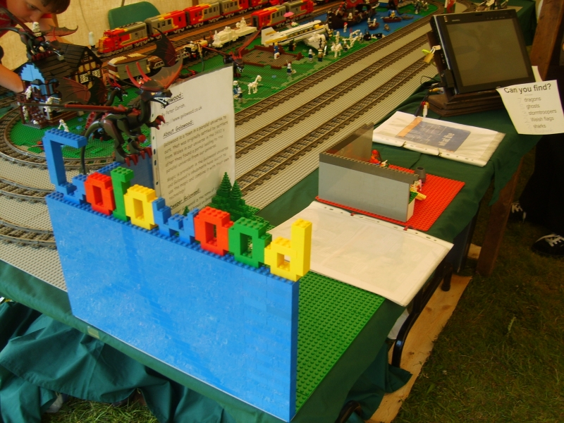 Golowood and part of the train layout display