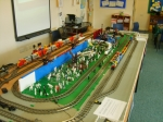 The main train layout.