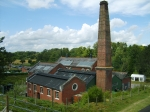 The main waterworks building from the top of the hill by the lime kilns.